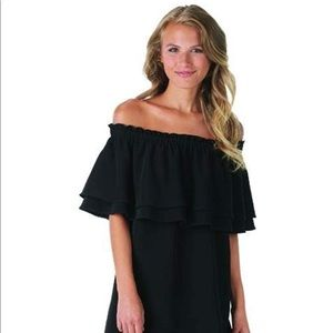 Mud Pie Pippa Off the Shoulder Dress - Black